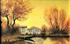 """Magnifico dipinto del pittore modenese Rattighieri, """"Alba in laguna"""""""