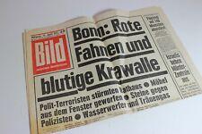 BILDzeitung 11.04.1973 April Umschlagsseiten / 4 Seiten Blutige Krawalle Bonn
