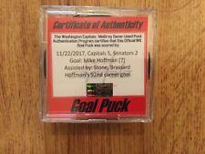 NHL Mike Hoffman Goal Puck Ottawa Senators November 22,2017 Washington Capitals