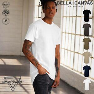 Unisex Long Body Urban T-Shirt Bella Canvas Mens Womens Streetwear Retail Fit
