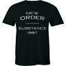 New Order Substance 1987 Alternative New Wave Joy Division Men's T-shirt Tee