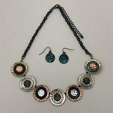 Women's Necklace Dangling Earrings Set Multi-color NWOT