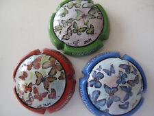 Série de  3 New capsules de champagne ROBINARD MARSAULT, les papillons