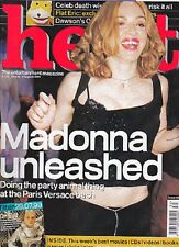 """MADONNA HEAT cover and 4 pages UK MAGAZINE August 1999  12x9"""""""