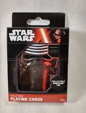 Disney Star Wars Kylo Ren Playing Cards with Collectible Embossed Tin