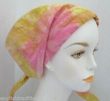 Colorful Batik Chemo Cancer Hair Loss Turban Hat Alopecia Cotton Head Scarf Cap