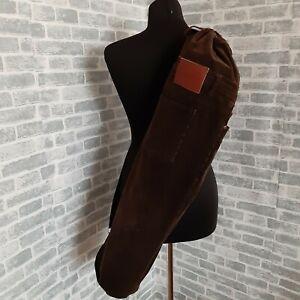 Handmade Brown velvet yoga mat bag Bag made from recycled velvet