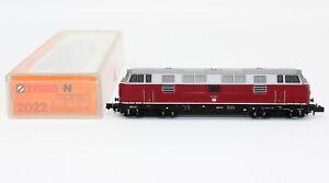 N Scale Arnold 2022 Red/Gray DB 221 148-0 Diesel Locomotive