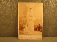 Victorian Antique Cabinet Card Wedding Photo of Young Bride