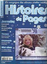 HISTOIRES DE PAGES N°08 THEMES : NOUVEL AN, HIVER, SAINT VALENTIN /  JOURNALING