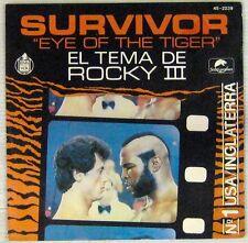 Survivor 45 tours Rocky III Stallone 1982 Espagne