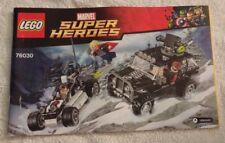 2015 LEGO Avengers Hydra Showdown INSTRUCTION MANUAL ONLY (76030) NEW