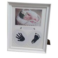 Foto Rahmen Baby Foto Rahmen Neu Geborenen Wand für Bilder Hand Abdruck Fuß X3E2
