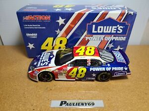 2003 Jimmie Johnson #48 Lowe's Power Of Pride HMS Chevy 1:24 NASCAR Action MIB