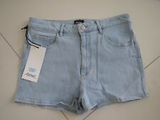 Riders by Lee Ladies Lexi Blue High Cheeky Stretch Denim Shorts   Size 12