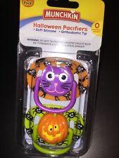 Munchkin Twin packs Halloween orthodontic pacifier 0+ Pumpkin Spider Purple Cat