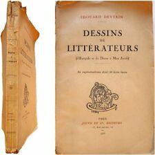 Dessins de littérateurs Euripide Dante Max Jacob 1926 Edouard Deverin Jouve Cie