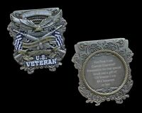 US VETERAN ENGRAVABLE CHALLENGE COIN US ARMY MARINES NAVY AIR FORCE PIN UP TUN