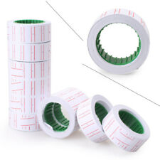Rolls White Price Pricing Label Paper Tag Tagging For Mx-5500 Labeller Gun 10Pcs