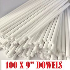"""100 x 9"""" Long CAKE DOWELLING Rods Support Tiered Cakes Sugarcraft DOWELS DOWELS"""