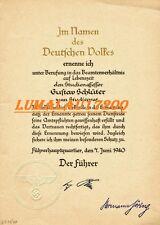 DOCUMENT D'ADOLF HITLER ET HERMANN  GOERING