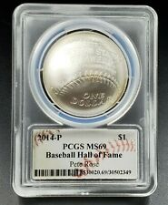 2014 P Baseball Hall of Fame Silver Commemorative $1 Pete Rose Signed PCGS MS69