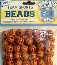 60 BASKETBALL BEADS 12mm Sports Jewelry Kids Crafts Necklace Bracelet School