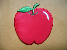 CUTE PRETTY RED APPLE Embroidered Iron on Patch Free Postage