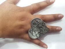 ANELLO minnie e topolino bagno argento antico regolabile ring minnie maouse