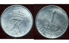 DANEMARK  1 ore 1969  zinc  ( bis )