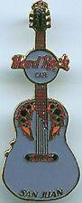 Hard Rock Cafe San Juan 2001 Mini Guitar Series Pin
