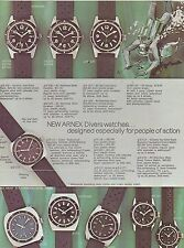 VINTAGE CATALOG #1560 - ARNEX DIVER and POCKET and STOP WATCHES