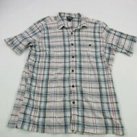 Patagonia Mens Button Front Shirt Plaid Short Sleeve Pocket XL Outdoor Casual
