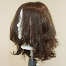 Big Layer Mono Jewish Wigs Virgin Human Hair Silk Top Kosher Wigs Natural Color