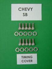 Chevy BB 402 427 454 Timing Cover Cap Head Bolt Kit en acier inoxydable