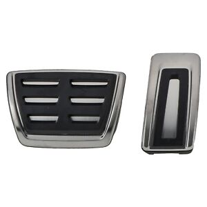 JJKTCV Stainless Steel Automotive Interior Car Gas Pedal Pad Brake Pedals Cover,for Volkswagen VW Tiguan L Allspace T-ROC T-Cross Troc Tcross