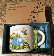 Disney's Magic Kingdom You Are Here 2017 Starbucks Mini Mug Ornament Holiday
