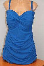 NWT Profile by Gottex Swimsuit 1 one piece attached Dress Plus Sz 20W Ocean Blue