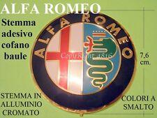 ALFA ROMEO 76 mm 7,6 cm Cofano Baule STEMMA Badge Logo Fregio Emblema Adesivo