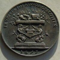 1697, Netherlands Silver Medal Peace / Treaty of Ryswick 20mm 17thC Interest