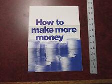 RARE Vintage How to make more Money LEVI'S jeans advertisement department  Levi