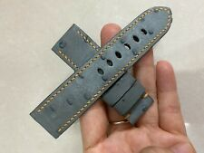 24mm Padded  GRAY   Genuine OSTRICH Leg LEATHER SKIN WATCH STRAP BAND