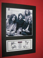 New listing Led Zeppelin A4 Photo Mount Signed Pre-Printed Robert Plant Jimmy Page Ticket Cd