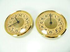 "2-Pack Quartz Clock Fit Up Insert Fancy Face Beige Ivory Arabic 4"" diameter New"