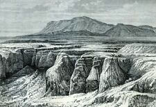 Spain, Andalusia, Sierra Nevada......Antique  Engraving  1883