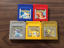 Pokemon: Yellow+Blue+Red +Gold+Silver (Game Boy Color) Authentic +New Batteries