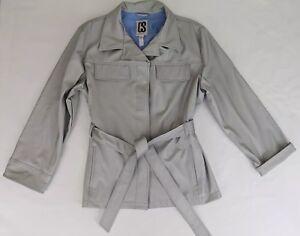 CS Signature Women's Button Jacket Rain Coat Sz XL Polyester Gray EUC