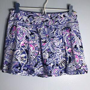 Lilly Pulitzer Luxletic Aila Skort Skirt Golf Tennis Elephants Shorts SZ S CC1