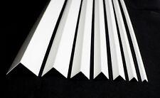 !!1 meter length!! WHITE PLASTIC PVC CORNER 90 DEGREE ANGLE TRIM - VARIOUS SIZES