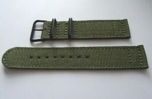 Green Military Watch Strap Fits Citizen Eco-Drive BM8470-11EE Black Case